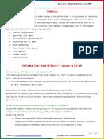 Odisha Current Affairs 2016 (Jan-Dec)by AffairsCloud