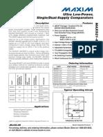 MAX923(Dual-Supply Comparators).pdf