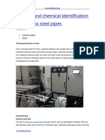 Physical and Chemical Identification of Stainless Steel Pipes