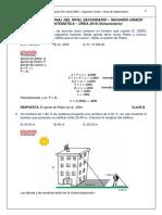 Solucionario ECE 2016 DREA 2º - Matemática