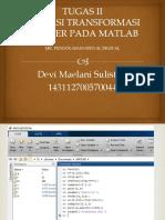 Tugas 2 Pengolahan Sinyal Digital - Devi Maelani