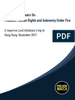 Hong Kong Watch Report 2018
