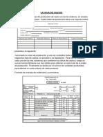 Estructura de Hoja de Costo y Estado de Costo de Producción