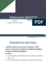 5. Uji Hipotesis Dan Pemilihan Uji Statistik