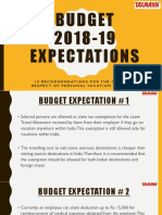 Budget 2018 - 19 Expectations