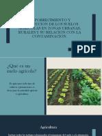 Empobrecimiento de tierras agrícolas en zonas urbanas ,rurales y su relación con la contaminación