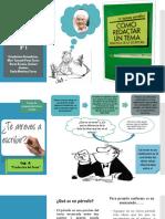Presentación Exposición_Como redactar un tema. Didáctica de la escritura de la autora María Teresa Serafini