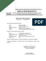 Surat Rekomendasi PKM