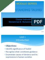 Understanding Tawheed 2015