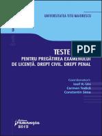 Iosif Urs Teste Grila Pentru Pregatirea Examenului de Licenta Drept Civil PDF