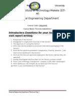 Ethiopian Institute of Technology Report