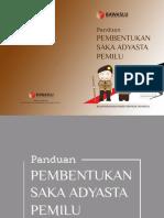 Buku Panduan Pembentukan Saka Adhyasta Pemilu