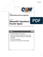 Lecture 18 -- Maxwell's Equations in Fourier Space