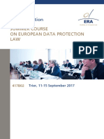 ERA SUMMER COURSE ON DATA PROTECTION -  Updated Speakers Contributions