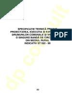ST 022 - 1999 - Proiect, Ex Si Exploatarea Drumurilor Comunale