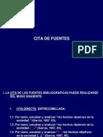 Cita de Fuentes