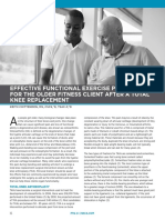 Effective Functional Exercise Programming for Older Clients After Knee Replacement