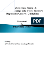 Presentation on Various Pump & Dicharge Side Control