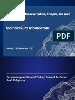 Perkembangan Ekonomi Terkini, Prospek, dan Arah Kebijakan