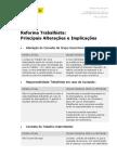 Reforma Trabalhista - Principais Alteracoes e Implicacoes