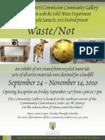 Waste / Not Exhibit - Santa Fe Community Gallery