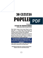 30 CATATAN POPULER