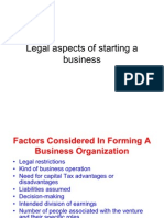 Legal Aspects of Starting a Business