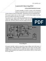 Speed Control of Dc Motor-pwm | Electronic Circuits | Electrical