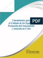 Lineamientos para el Cuidado de los Equipos, Promoción del Autocuidado y Atención en Crisis