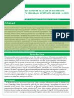SUCCESSFUL PREGNANCY OUTCOME IN A CASE OF BI - CORNUATE  UTERUS WITH BOH  WITH S ECONDARY INFERTILITY AND GDM  – A VERY  RARE CASE REPORT. --Medisun Academy