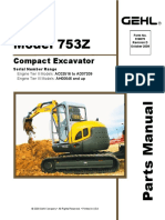 753Z Compact Excavator Parts Manual 918075D