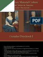 Portrait Artists - Duyckinck I