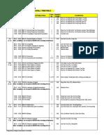 2012 BT2 Timetable