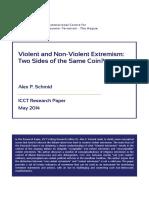 ICCT Schmid Violent Non Violent Extremism May 2014