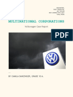 Business MYP Volkswagen Case Report