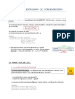 (2) Solutions Et Expression de Concentration