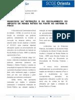 Boletim 006 16 Registro Retenção Do IR Fonte E Fisco Atual. Bol. 031 2011