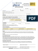2018 Best and Brightest application