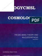 The Big Bang Theory and Nucleosynthesis
