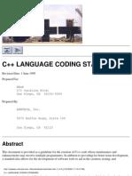 c++ Language Coding Standard