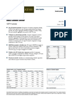 India Cement Sector - 1QFY11 Preview