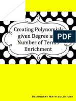 Creating Polynomials Given Degree and Number of Terms Enrichment
