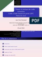Presentation Codes LDPC Affichage