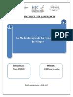 M de La Dissertation