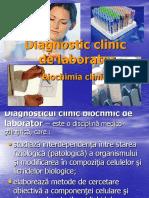 Diagnostic Clinic in Biochimie