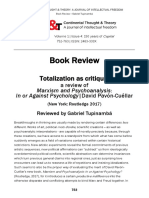 Totalization as Critique a Review of Marx