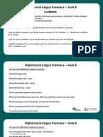 Língua Francesa - Aula 08