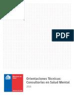 MNSAL (2016) Orientaciones Técnicas - Consultorías en Salud Mental