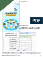 Membuat Form Excel Macro
