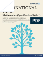 International GCSE Maths (9-1) Spec B (4MB1) Sample Assessment Materials
